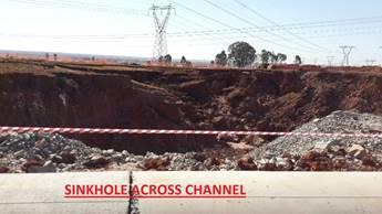 Anglo Gold Ashanti Sinkhole Crossing