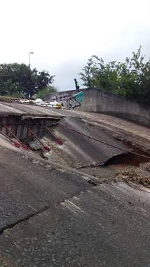 Benoni Lake Wall Collapse