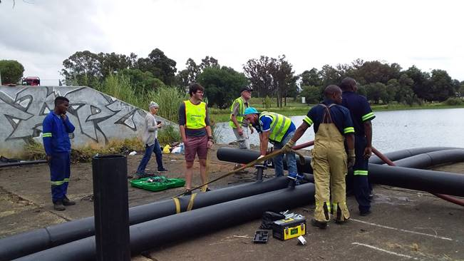 Benoni Lake Wall Collapse